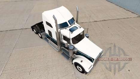 Die Haut Brauch Neue Blaue truck Kenworth W900 für American Truck Simulator