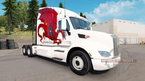 Dragon Age skin für den truck Peterbilt für American Truck Simulator