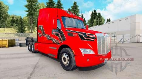 Skin Carbon-Insertionen auf die Zugmaschine Pete für American Truck Simulator