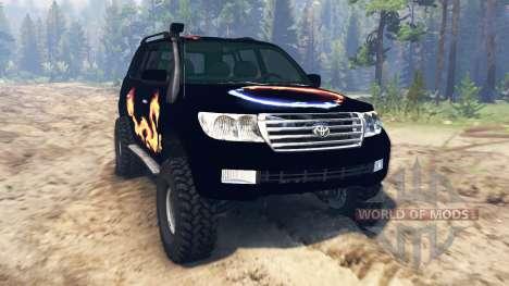 Toyota Land Cruiser 200 2008 für Spin Tires