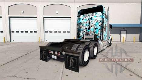 Stickerbomb skin für den Kenworth W900 Zugmaschi für American Truck Simulator