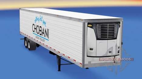 Chobani Haut auf der reefer-trailer für American Truck Simulator