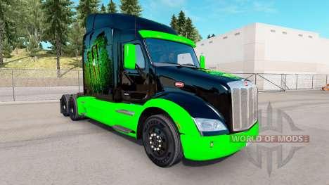 Monster Energy skin für den truck Peterbilt für American Truck Simulator