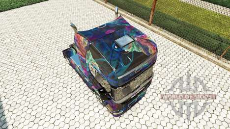 Die Fractal-Flame-skin für den Scania truck für Euro Truck Simulator 2