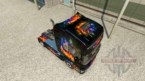 Haut Farbe auf die Wand Zugmaschine Scania für Euro Truck Simulator 2