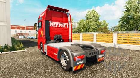 La peau de Ferrari sur le tracteur HOMME pour Euro Truck Simulator 2