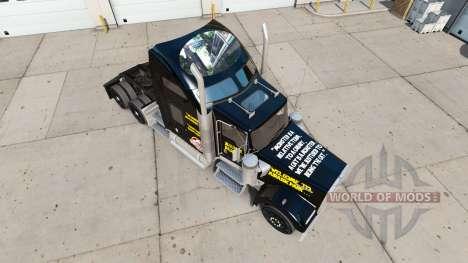 Haut Jurassic World truck Kenworth W900 für American Truck Simulator