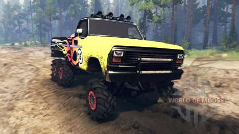 Ford F-100 6x6 custom v2.0 pour Spin Tires