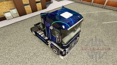 la peau de la fum e bleue sur tracteur renault pour euro truck simulator 2. Black Bedroom Furniture Sets. Home Design Ideas