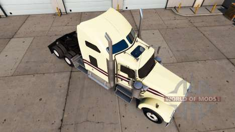 Crème pour la peau sur le camion Kenworth W900 pour American Truck Simulator