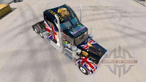 La peau de la Reine sur le camion Kenworth W900 pour American Truck Simulator