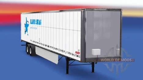 Haut LandStar auf den trailer für American Truck Simulator