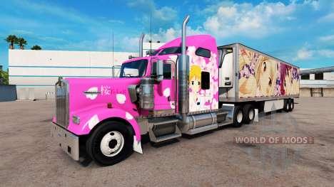 La peau Sakura pour camions Peterbilt Kenwort pour American Truck Simulator