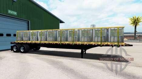 Die Auflieger-Plattform mit unterschiedlichen La für American Truck Simulator