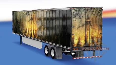 La peau de la Citrouille sur la remorque pour American Truck Simulator