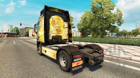 Oro-skin für den Volvo truck für Euro Truck Simulator 2