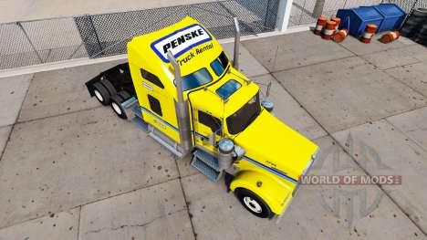 Haut auf Penske truck Kenworth W900 für American Truck Simulator