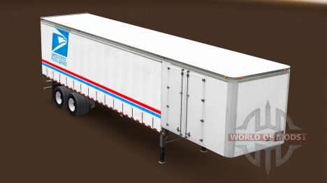 Haut USPS auf den trailer für American Truck Simulator