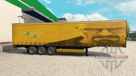 La peau de Walter White dans la remorque pour Euro Truck Simulator 2