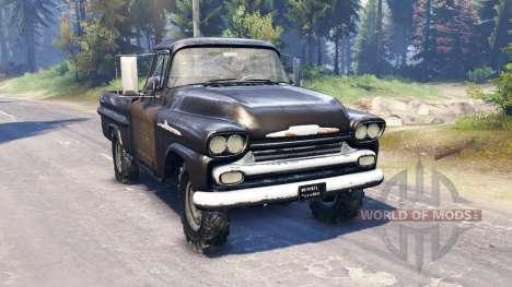 Chevrolet Apache 1959 v2.0 für Spin Tires