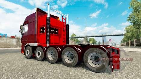 Zusätzliches Fahrwerk für Traktor DAF XF für Euro Truck Simulator 2
