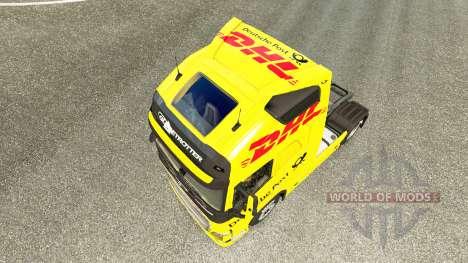 DHL peau pour Volvo camion pour Euro Truck Simulator 2