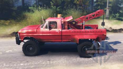 Ford F-200 1970 [Tow Truck] pour Spin Tires