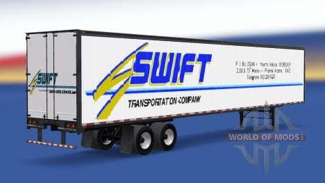 Tous métal-semi-remorque Swift pour American Truck Simulator