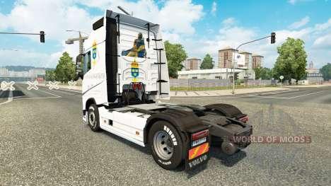 Forsvarsmakten skin für Volvo-LKW für Euro Truck Simulator 2