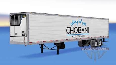Chobani de la peau sur le reefer remorque pour American Truck Simulator