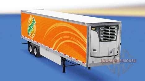 Mirinda de la peau sur le reefer remorque pour American Truck Simulator