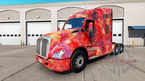 La peau Abstrait pour camion Kenworth pour American Truck Simulator