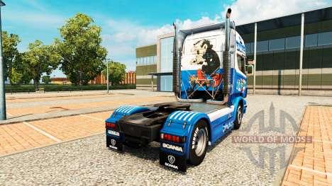 Les schtroumpfs de la peau pour Scania camion pour Euro Truck Simulator 2