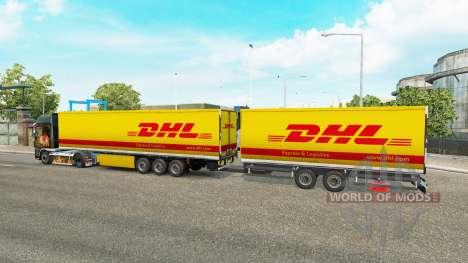 Semi-remorques Krone Gigaliner [DHL] pour Euro Truck Simulator 2