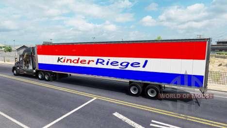 Haut, Kinder Riegel, die auf dem Anhänger für American Truck Simulator