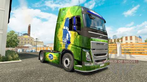 La peau Brasil chez Volvo trucks pour Euro Truck Simulator 2