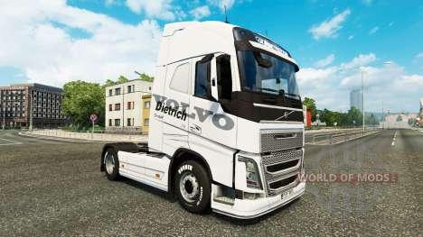Dietrich peau pour Volvo camion pour Euro Truck Simulator 2