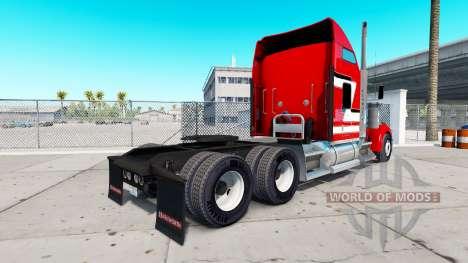 Haut Rot und Weiß auf dem truck-Kenworth W900 für American Truck Simulator