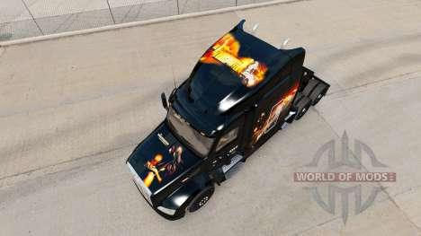 Haut Die Transporter-truck Peterbilt für American Truck Simulator