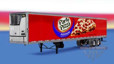 Frigorifique semi-remorque Partie de Pizza pour American Truck Simulator