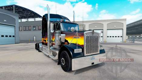 Haut Sonnenuntergang auf der LKW-Kenworth W900 für American Truck Simulator