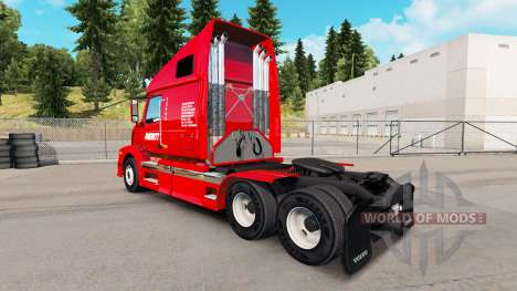 Haut Averitt Express Sattelzugmaschine Volvo VNL für American Truck Simulator