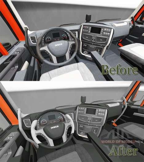 Nouvel intérieur tracteurs Iveco pour Euro Truck Simulator 2