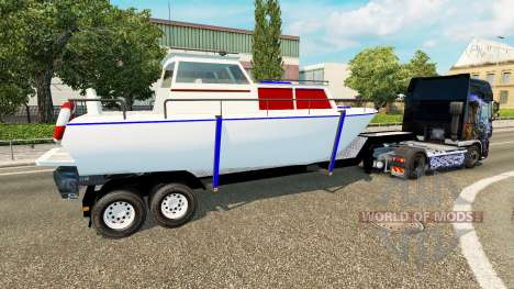 Der Anhänger mit dem Boot für Euro Truck Simulator 2