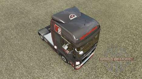 Grau Rot Haut für MAN-LKW für Euro Truck Simulator 2
