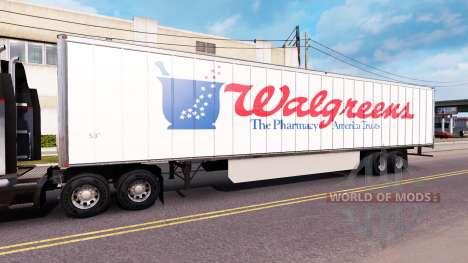 Haut WalGreens, die auf dem Anhänger für American Truck Simulator
