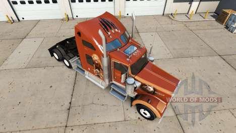 Haut Der Trägt Den auf den truck Kenworth W900 für American Truck Simulator