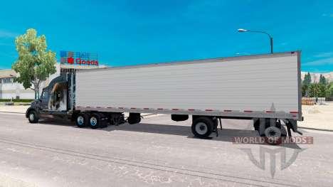 Zweiachsige Kühlwagen-Auflieger für American Truck Simulator
