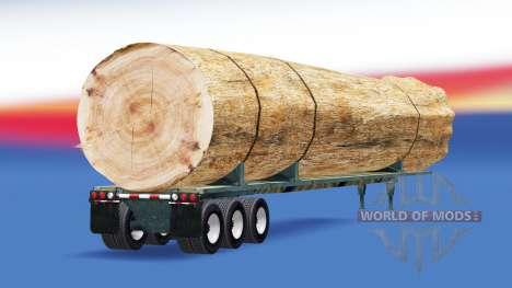 Semi-remorque avec une charge de tronc d'arbre pour American Truck Simulator
