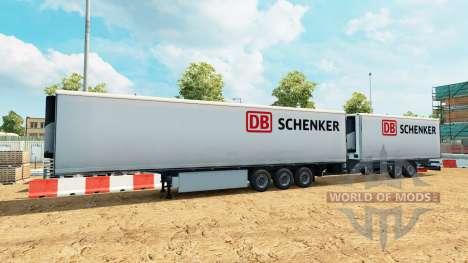 Semi-remorque Krone méga-camions [DB Schenker] pour Euro Truck Simulator 2